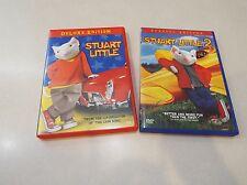 Lot of 2 Stuart Little Deluxe Edition Stuart Little 2 Special Edition DVD's EUC
