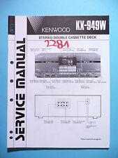 Instrucciones Manual de servicio para Kenwood kx-949w, original