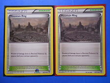 4x Mountain Ring 97/111 Pokemon TCG card XY Furious Fists uncommon NM