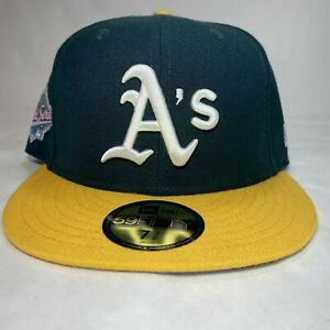 Swarovski Oakland A's New Era 59Fifty Fitted 1989 World Series Size 7 ⅜