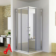 Square Shower Screen Enclosure Sliding Door Corner Cubicle Quadrant 900x900mm