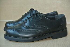 RED WINGS Mens 7 EE Black Leather Wingtip Slip Resistant Dress Oxfords Shoe $330