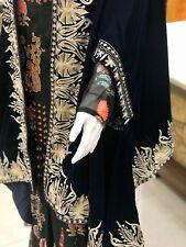 Blue Velvet Cape, Royal Kashmiri Orni, Girls Shawl, Velvet Embroidered Ponchos