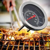 Outdoor BBQ Smoking Thermometer Temp Gauge Grill Smoker Pit Thermostat W