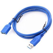 1m Blau USB 3.0 Verlängerungskabel-Stecker auf Buchse Kabel Extender ~