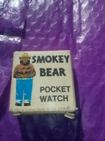 RARE VINTAGE SMOKEY THE BEAR OFFICIAL FOREST SERVICE POCKET WATCH BOX ONLY