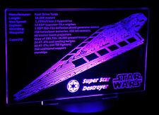 Custom LED Display stand PLAQUE for lego 10221 Super Star Destroyer, Starwars.