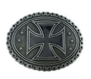 Gürtelschnalle Buckle für Gürtel bis 4 cm Metall Iron Cross eisernes Kreuz Biker