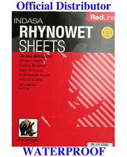 "INDASA RHYNOWET Red Line SANDPAPER Wet / Dry 10 sheets 9"" x 11"" 180 Grit"