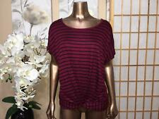 Best offer women's clothing, BURGUNDY STRIPES TOP, Plus size