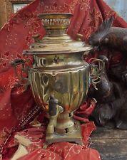 Antique Russe laiton samovar thé urne romantique impressionnant cuisine Déclaration