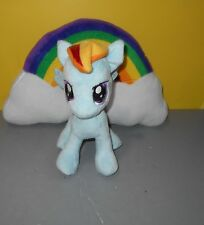 "Aurora My Little Pony Rainbow Dash Stuffed Plush 10"" Blue Horse  w/ 16"" Rainbow"
