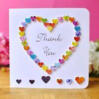 Handmade Thank You Card, Colourful Thankyou Card, Wedding thank-you cards