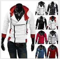 Men's Stylish Creed Hoodie Zipper Coat Cosplay For Assassins Jacket Costume Coat
