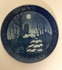 Royal Copenhagen Collector Plate Denmark '' 1974 Winter Twilight