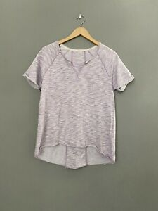 Calvin Klein Womens Top Performance Small Lilac Pullover Hi Low EUC