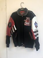 Jeff Hamilton NBA Chicago Bulls Leather Jacket Size Large bomber jacket Vintage