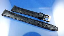 VINTAGE 70 S HIFI 14 mm Cinturino Orologio in gomma francese Band New Old Stock Fibbia Oro