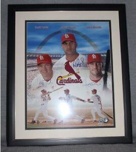 St Louis Cardinals MV3 Rolen Pujols Edmonds Framed Signed 16x20 Rare # 4 / 50