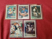 Joe Girardi 1990 Upper Deck Baseball Card #304 plus 4 card lot Chicago Cubs