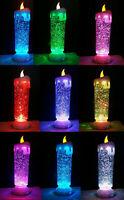 LED Kerze groß 25cm Farbwechsel Glitzer Weihnachtsdeko Glitter Weihnachtskerze