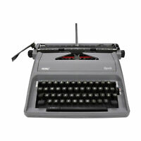 "Royal Epoch 11"" Portable Manual Typewriter with Carrying Case Gray"