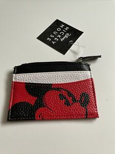 New Disney Land Mickey Mouse Designer Card Holder Coin Pouch Zipper Wallet
