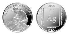Prospector 1 oz .999 Silver BU Round USA Made American Bullion Coin - LIMITED!