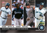2020 MLB Topps Now card #61 SEATTLE MARINERS Seager Griffey Buhner Martinez