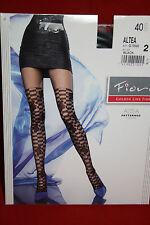 Sexy gemusterte  Strumpfhose ALTEA  40 DEN von Fiore schwarz   Gr. 3 G5563
