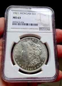 1921 Morgan Dollar NGC MS63 #1