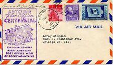 FDC/ FIRST DAY COVER / USA / ETATS UNIS / ASTORIA POST OFFICE CENTENNIAL 1947