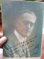 1928 291) FOTO DEDICA AUTOGRAFA POLITICO ENOLOGO DI BARICELLA ARTURO MARESCALCHI