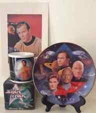 Star Trek 30th Anniversary Collectors Plate Captain's Tribute #2154F 1997 Bundle