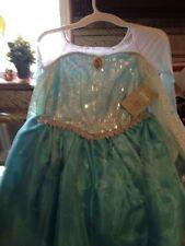 Disney  Frozen Elsa Princess Costume Gown Dress Size 10 W/Elsa Wig & Tiara Bonus