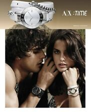 ARMANI EXCHANGE LADIE'S CHAINS AND WHITE LEATHER WRAP WATCH AX4146