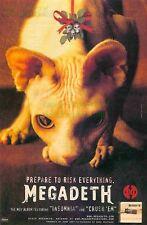 Megadeth Risk Album Sphynx Cat Mistletoe Skulls Great Original Photo Print Ad!