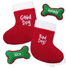 GOOD DOG/BAD DOG CHRISTMAS HOLIDAY STOCKING & TOY XMAS Plush