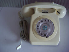 GPO BT 746 ROTARY TELEPHONE IN IVORY - RETRO STYLE - FREEPOST