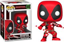 "Marvel Deadpool With Candy Canes 3.75"" Pop Vinyl Figure Funko 400 Christmas"