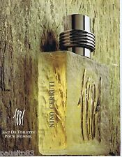 PUBLICITE ADVERTISING 095 1993 Nino Cerrutti 1881 eau de toilette