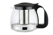1100ml GLASS INFUSION INFUSER TEAPOT HERB TEA COFFEE MAKING POT cw LEAF STRAINER
