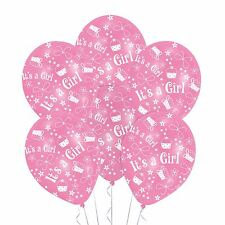 """6 Pack Pink """"Its a Girl"""" Surprise Congratulations New Baby Shower Party Balloons"""