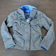 New Abercombie & Fitch Mens Dark Gray Nylon All Season Jacket Coat XL
