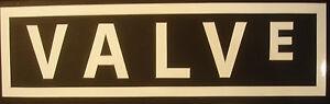 Valve logo vinyl cut sticker - PC, Game, Steam, Gamer, Laptop (WHITE)