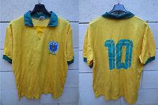 VINTAGE Maillot BRESIL BRASIL BRAZIL shirt jersey PELE n°10 maglia camiseta XL