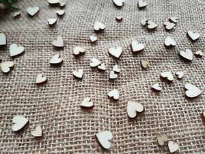 Wood Table Mix Love Heart Confetti Wedding Rustic Vintage Wedding Scatter Decor