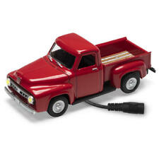 Menards ~ 1:48 Scale CORAL FLAME RED 1953 FORD Pickup Truck Lighted Diecast