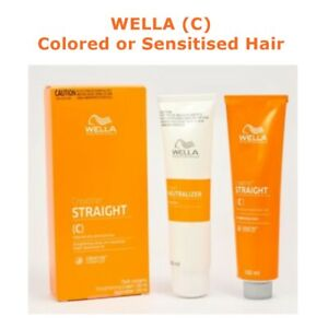 Wella C Straight Hair Cream Creatine Colored Sensitized Permanent