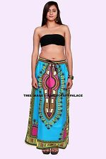 African Dashiki Dress Women Hippie Gypsy Party Skater Long Maxi Handmade Skirt
